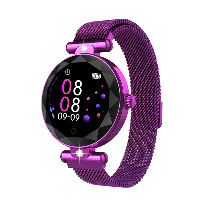 Goddess exclusive fashion trend waterproof simple small waterproof watch students purple 36.8 * 36.8 * 11.8
