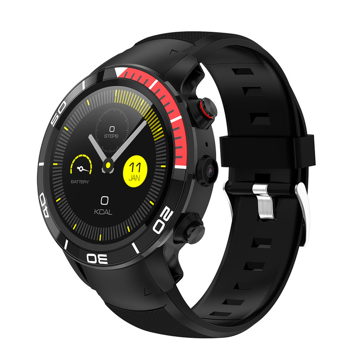 4G Smart Watch Bluetooth Waterproof Sport Fitness  Support WIFI GPS SIM Card for Mobile Phone red 51.8 * 51.8 * 16mm