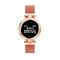 Women's smart bracelet Bluetooth waterproof heart rate monitor sports fitness smart watch purplerose gold 32 * 32 * 10MM