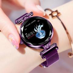 Smartwatch Bluetooth Waterproof FashWristband Bracelet HR Monitoring Fitness  Health Watch purple xl
