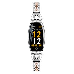 Smartwatch Waterproof Fashion Sport Bracelet Heart Rate Monitoring Fitness Smart Health Wristband purplerose gold xl