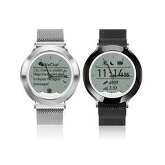 Fashion Sport Smart  Watch Bluetooth Waterproof   Charging Digitized Mechanical Hands Watch moonlight silver xl