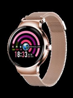 Smart watch Bluetooth Waterproof  Wristband HR BP Monitoring Fitness Smart Health Bracelet purplerose gold xl