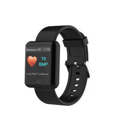 Smart Bracelet Color Touch Screen Smart Blood Pressure Stainless Steel Sport Fitness Tracker Watch knight black xl