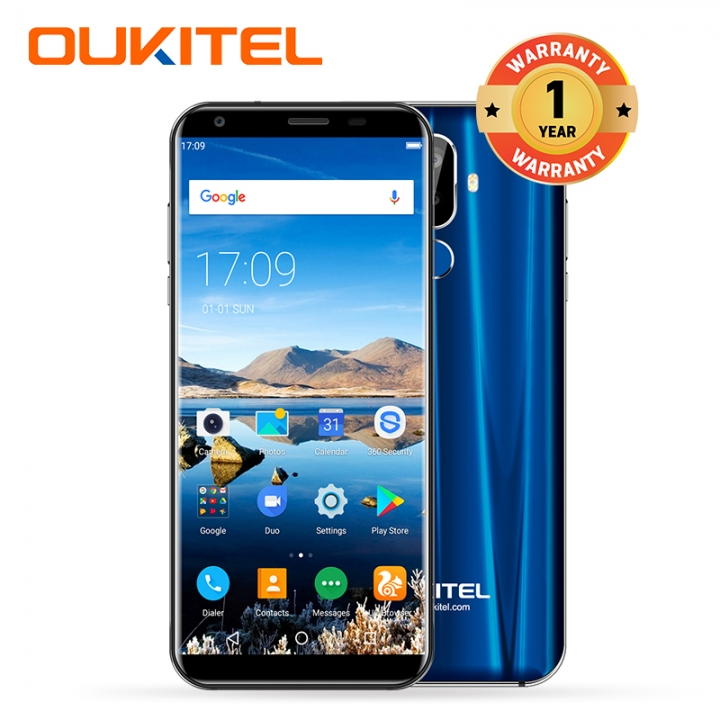 "OUKITEL K5, 2+16GB, 4000mAh, 18:9 Full Screen 2.0,  8MP+2MP, 5.7"" Full Display, Smart phone blue"