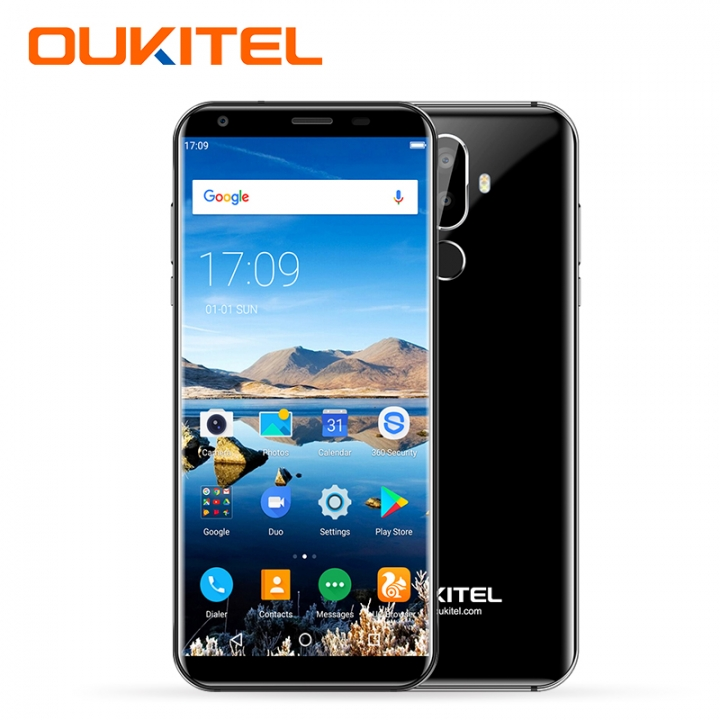 "OUKITEL K5, 2+16GB, 4000mAh, 18:9 Full Screen 2.0,  8MP+2MP, 5.7"" Full Display, Smart phone black"