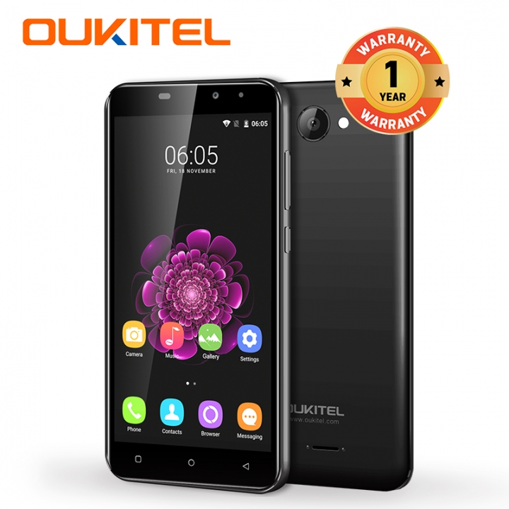 "OUKITEL C9, 1+8GB, 2000mAh Big Battery,MT6580A, 5.0""HD, 8+2MP,  3G LTE, Smart phone black"
