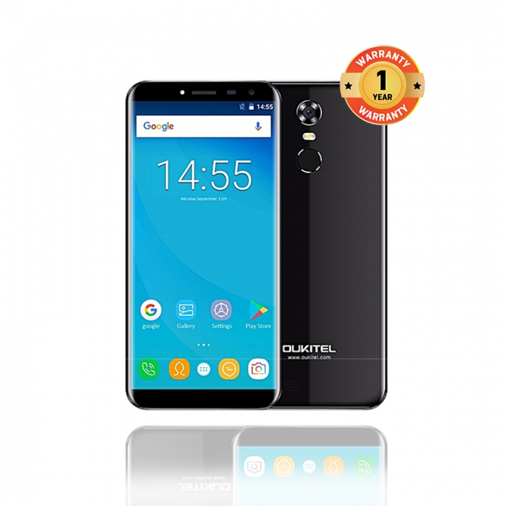 OUKITEL C8 4G , 2GB+16GB,  5.5HD, 13.0MP+5.0MP, 4G,  Fingerprint, Smart Phones black