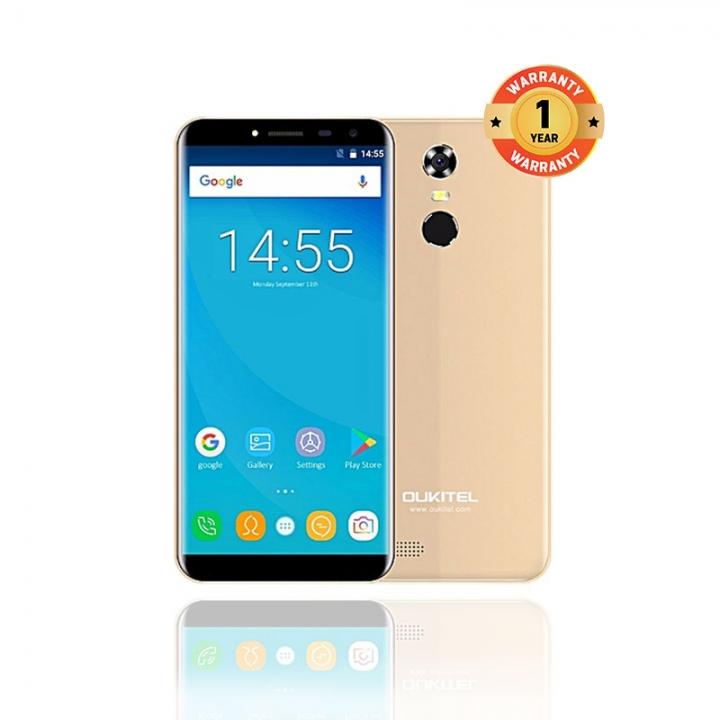 OUKITEL C8 4G , 2GB+16GB,  5.5HD, 13.0MP+5.0MP, 4G,  Fingerprint, Smart Phones gold