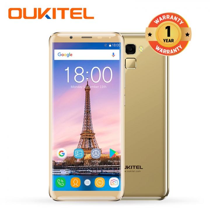 """OUKITEL K5000, 4+64GB, 5000mAh, 5.7""""HD, 16+21MP,  18:9 Aspect Tatio, Fingerprint, Smart phone gold"""