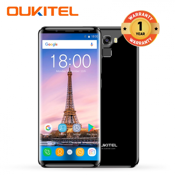 """OUKITEL K5000, 4+64GB, 5000mAh, 5.7""""HD,  18:9 Aspect Ratio, Fingerprint, Smart phone black"""
