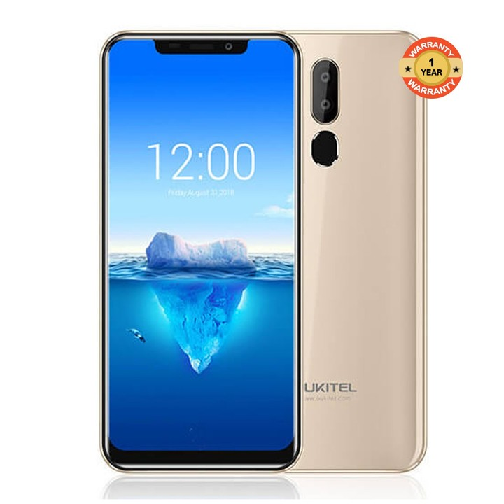 "Oukitel C12 Pro - 6.18"" 4G Android 8.1 2GB/16GB Face ID+ Fingerprint 3300mAh EU gold"