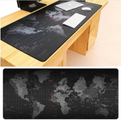 Extra Large Mouse Pad  World Map Gaming Mouse Pad Anti-slip Natural Rubber Gaming Mouse Mat Office Black 80*30cm