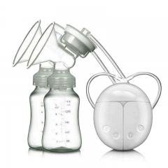 Double Electric breast pumps Powerful Nipple Suction USB Electric Breast Pump with Baby Milk bottle white one size