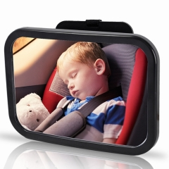 Car Back Seat Baby Safety Mirror Adjustable Baby Rearview Infants Rear Ward View  Baby Mirrors black one size