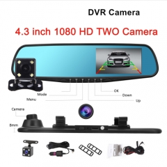 1080P car rearview mirror Car Dvr full HD 1080p car driving video recorder camera car reverse image black without SD card