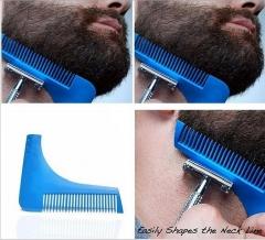 The beard shaper beard molding template carding tool beard brush comb silvery