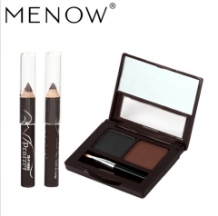 MENOW two-color eyebrow powder with eyebrow brush+two-color eyeliner pen 01#