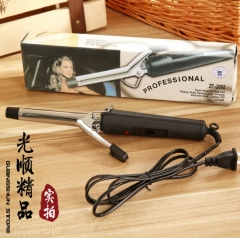 Stainless steel curling iron Fashion manual round electric pin Thermostatic perm hair curler black 30*6.7*4cm