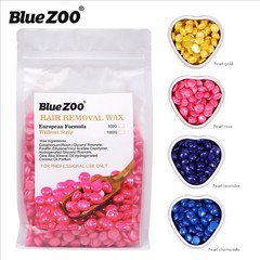BlueZOO high quality paper fast painless depilating wax Pearl wax 500g bag in 4 colors Pearl gold as picture