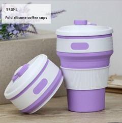 Creative silicone folding coffee cup Collapsible silica gel water cup Silicone expansion cup
