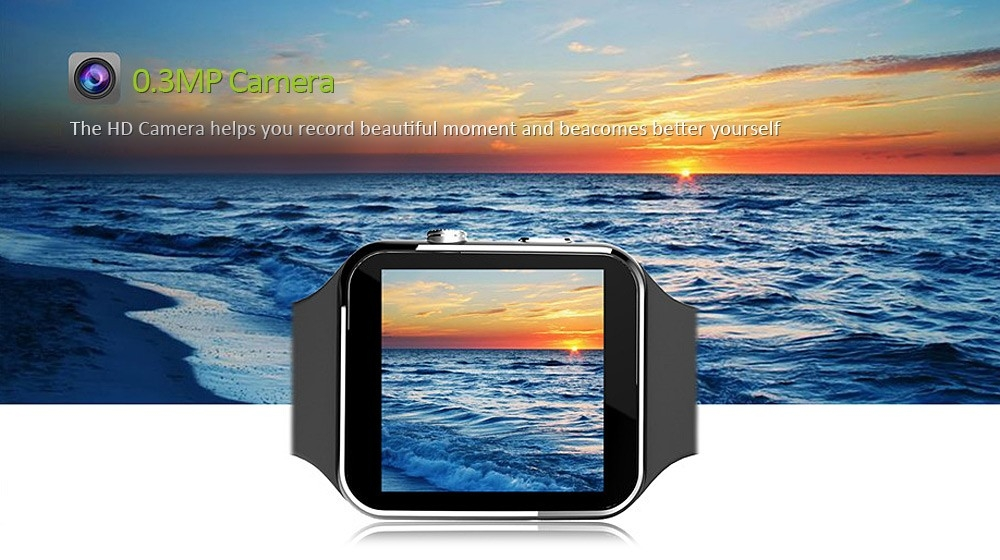 X6 Bluetooth Smartwatch Wearable  Sport Smart Watches Camera FM Call Phone Support SIM Card Android black one size 5
