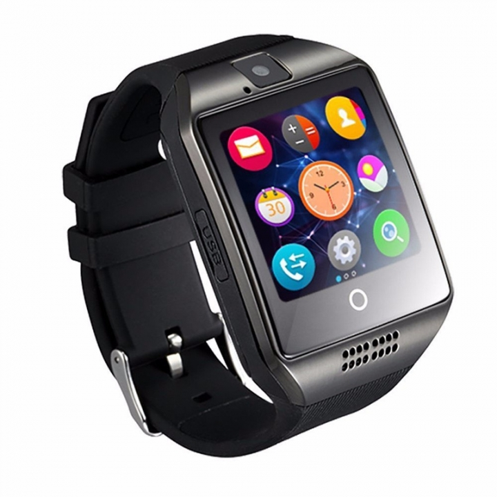 Smart Watch Q18 Bluetooth Smartwatch Sim Card Slot Fitness Camera Activity Tracker for Android IOS white one size