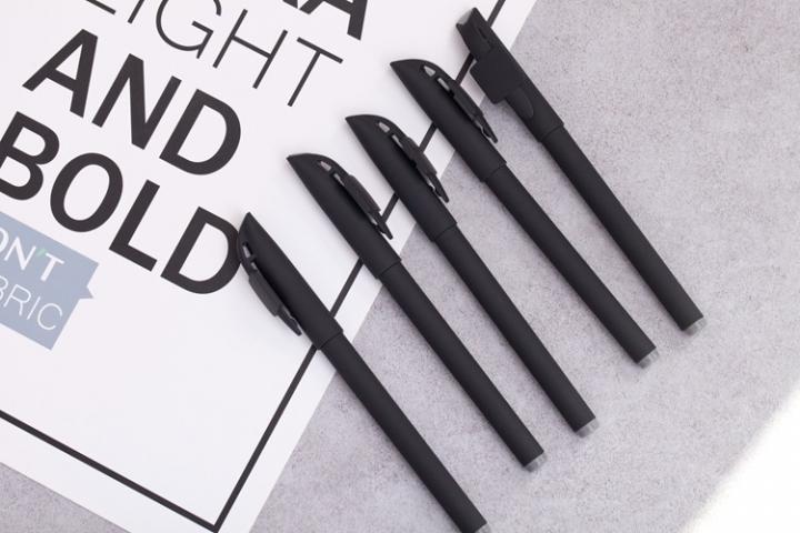1 PC Office Pen Gel Pen Black Refill Plastic Shell for students Office