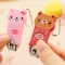 1PCS Fashion Cartoon Nail Clippers Cute Animal Key Chain Stateliness Steel ABS Nail Art random one size