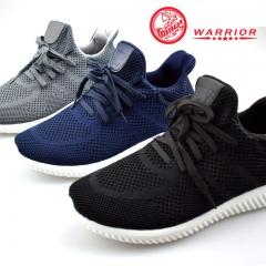 WARRIOR Men Shoes Autumn Warm Weaving Breathable Deodorization  Casual Outdoor Sport Sneaker Sturdy black 38