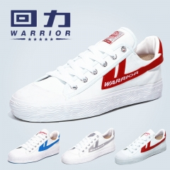 WARRIOR Students Basketball Shoes Classic Canvas Shoes Walking Running Sneakers Rubber Male&Female black 38