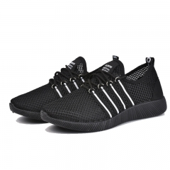 New Fashion Men Shoes Autumn Warm Weaving Breathable Deodorization Outdoor Sport Running Sneaker black 39