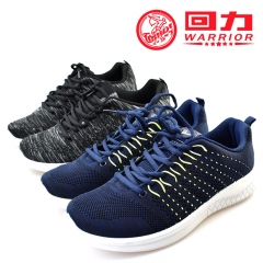 WARRIOR Fashion Men Shoes Autumn Weaving Breathable Laces Casual Outdoor Sport Running Sneaker 38-44 navy 38