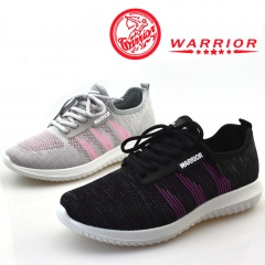 WARRIOR Fashion Women's Shoes Summer Air Mesh Sneakers Soft Elastic Slip-on lazy Shoes Loafers 35-40 grey 35