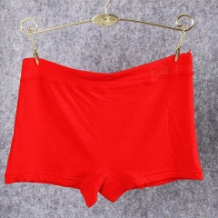 10  pcs / set Bamboo Fiber Flat Panties Flat Foot Pants Anti-Lights Women Triangular Boxer Shorts red one size(75KG-115KG)