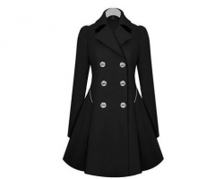 Hot Fashion All Size Trench Coat  Slim Coat Trench Women  Jacket Trend Lady Clothes black m