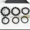 Imitation Obsidian Black Beads Bracelet Fashion Men And Women Bracelets Jewelry black 6mm