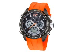 Business Mens Multi Function Watch Double Display Sports Waterproof Running Seconds Movement Watch blue one size
