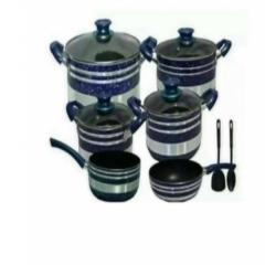 Non-stick Cooking Pots set - Blue 12 pieces