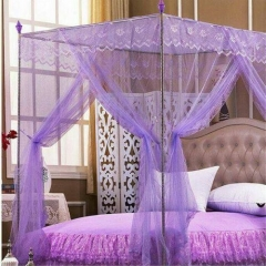 Mosquito net with straight metallic stands - Purple 5*6