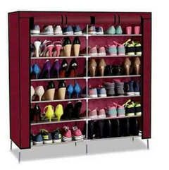 Shoe Rack - Wine Red