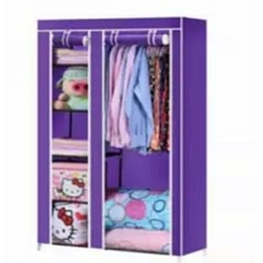 2 Columns Portable Wardrobe - Purple