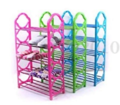 Portable Foldable Shoe Rack - Pink