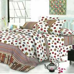 4 Pcs of Duvet Set ( 1 Duvet, 2 Pillow cases and 1 Bed-sheet ) multicolor 4*6