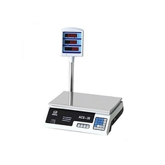 SCALE A.C.S 30 KILOGRAMMES .Weighing scale Digital scale silver 30Kgs max