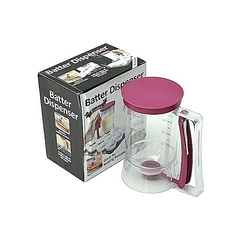 Cake Batter Dispenser with Measuring Label for Cupcakes Muffins purple 1