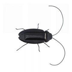 Solar energy Xiao Qiang solar grasshopper car strange new puzzle toys children's toys Black normal