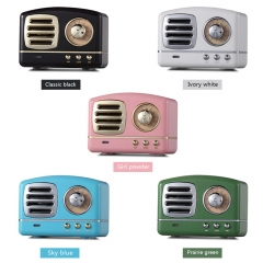 Retro MH11 Mobile Phone Subwoofer Creative Retro Radio Mini Wireless Card Bluetooth Speaker blue normal