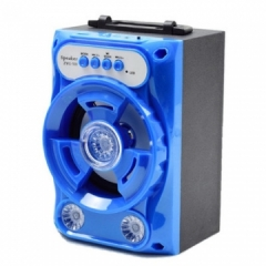Outdoor Bluetooth Speakers Square Dance Portable Portable Card Gift Speakers blue 7w one size Blue 7 W one size