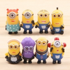 8 Pcs/Set Minions Doll for Children as picture one size